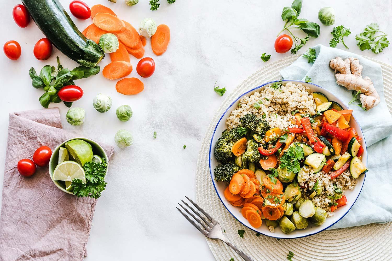 health food quinoa bowl