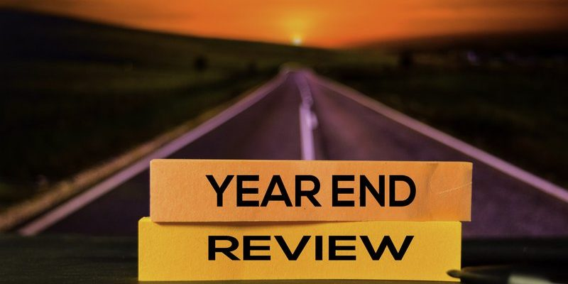 Year End Review Sign