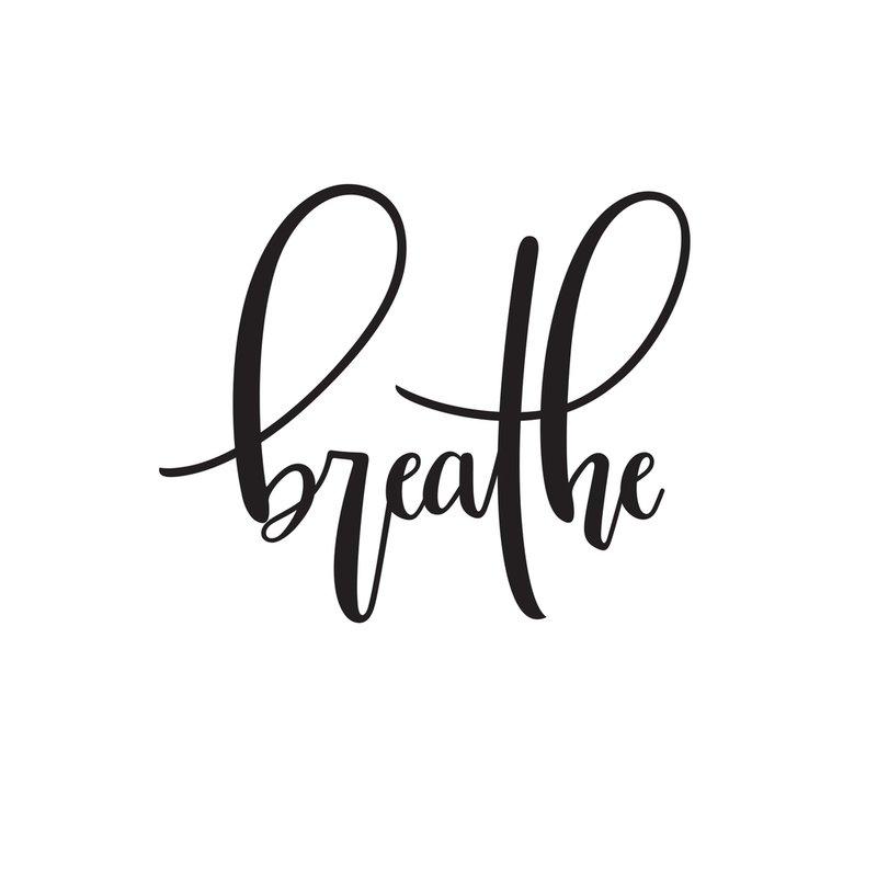 breathe cursive