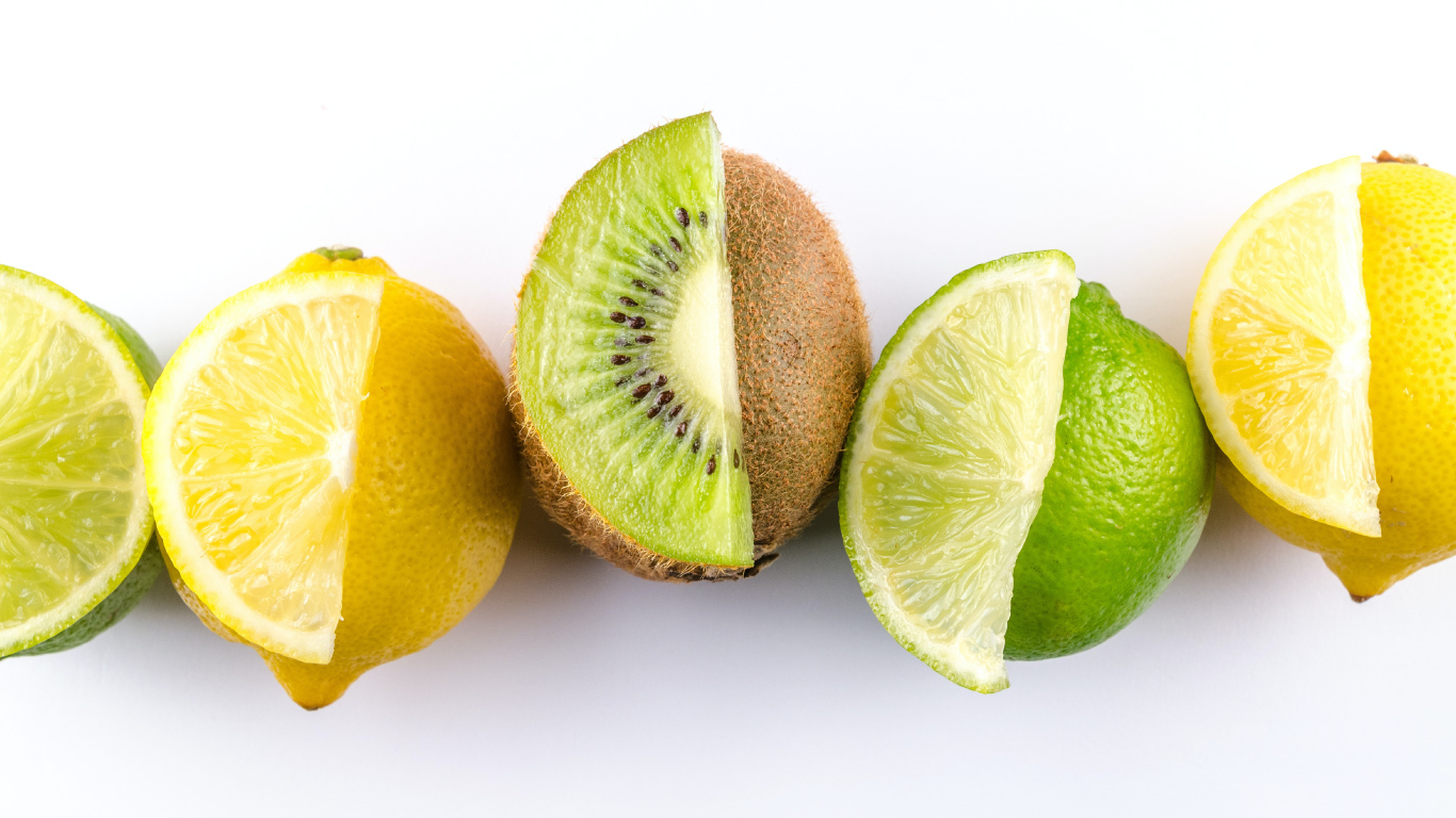 lemons and limes in a row